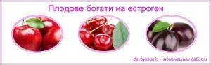 плодове с естроген